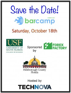 Save the Date for Tampa's 7th annual BarCamp